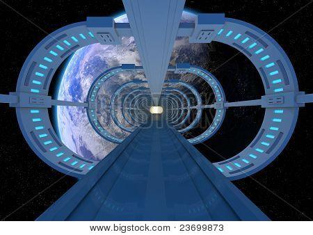 Futuristic Earth Bridge