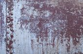 Old Riveted Worn And Weathered Rusty Metal Background poster