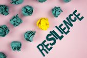 Word Writing Text Resilience. Business Concept For Capacity To Recover Quickly From Difficulties Per poster