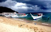pic of olongapo  - Boats on Puerto Galera in The Philippines - JPG