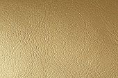 Gold Or Bronze Natural Leather Background. Shiny Yellow Leaf Gold Foil Texture Background. Place For poster
