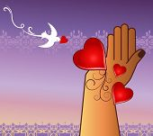picture of healing hands  - loving helping hand  concept  - JPG