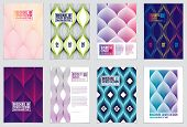 Cover With Minimal Designs. Web, Commerce Or Events Vector Graphic Design Templates Set. Vector Geom poster