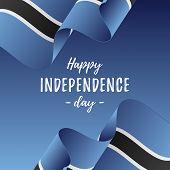 Постер, плакат: Banner Or Poster Of Botswana Independence Day Celebration Botswana Flag Vector Illustration