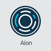 Aion - Coin Pictogram Of Fintech Industry, Finance Digitization. Modern Pictogram. Premium Quality C poster