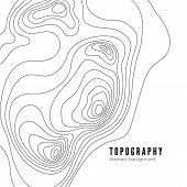 Landscape Geodesy Topography Map Line Texture. Vector Background Pattern poster