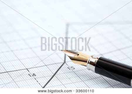 Pen On Diagram