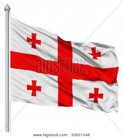 Waving flag of Georgia