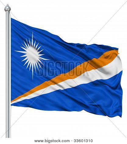 Waving flag of Marshall Islands