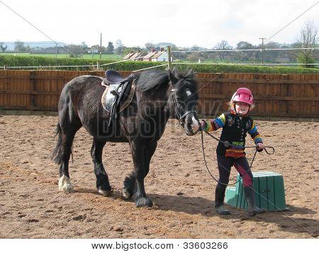 Leading a pony