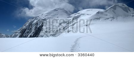 Upper Field Of The Dzerzhinsky Glacier