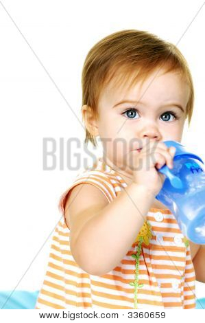 Baby Drinking Water From A Cup
