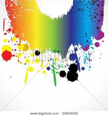 Color Grunde Paint Splashes For Background Vector Eps