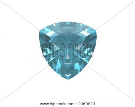 Blue Topaz Trillon Isolated