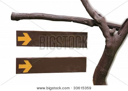 Set wooden sign with vector.