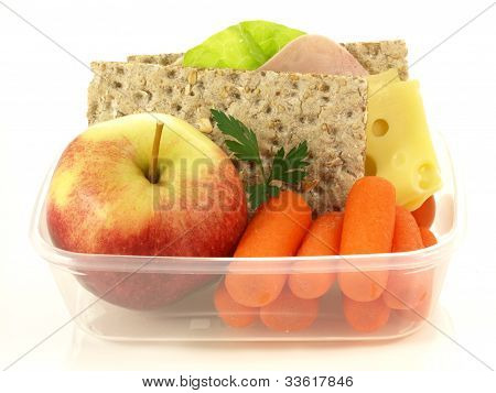 Box With Snacks, Isolated