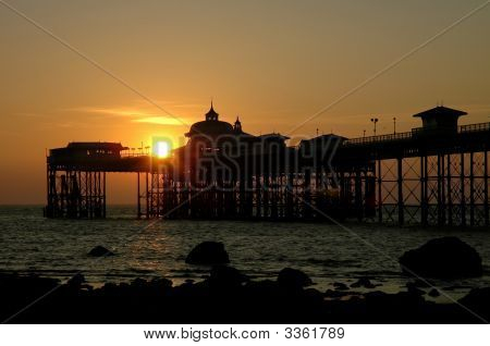 Llandudno Pier At Sunrise 01