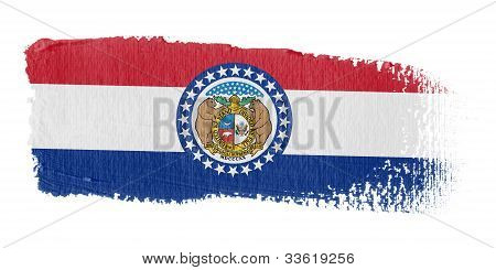 Brushstroke Flag Missouri