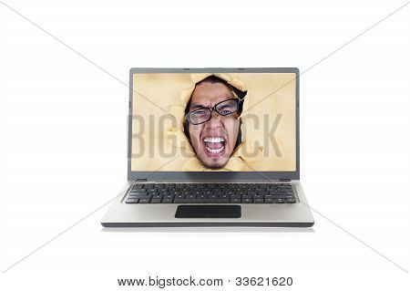 Angry Man On The Laptop