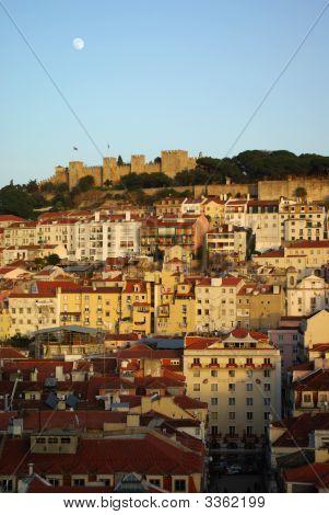 Lisbon From Height Of The Bird'S Flight.