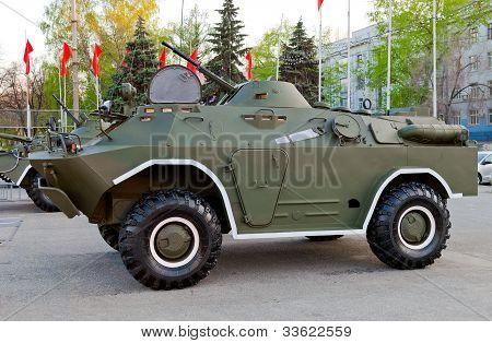 Samara, Russia - May 8: Reconnaissance/patrol Vehicle Brdm At The Exhibition On May 8, 2011 In Samar