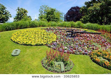 Famous Flower Clock, Geneva, Switzerland