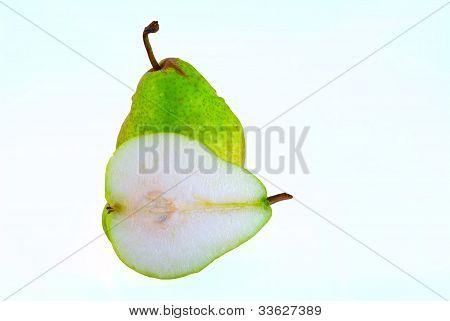 Whole And Half A Pear