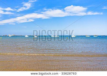 Boats In Sea In La Manche