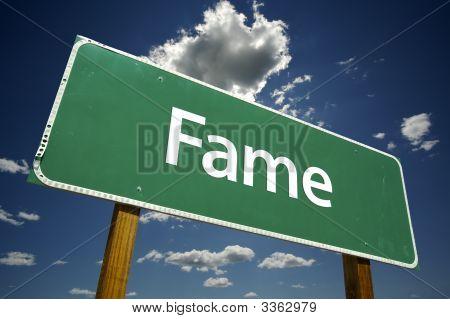 Fame Road Sign