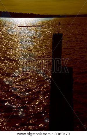 Moody Puget Sound Sunset