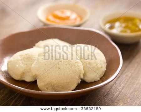 traditional indian idli breakfast