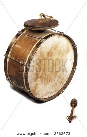 The Old, Worldly-Wise, Shabby, Dusty Bass Drum