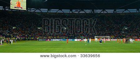 Kharkiv, Ukraine - June 9: Emotions Of Netherlands And Denmark Football Team After Match