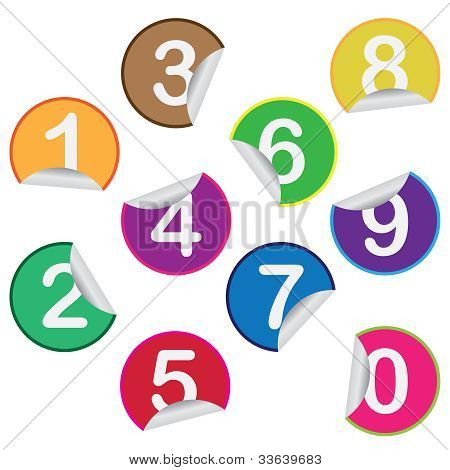 Stickers With Numbers.