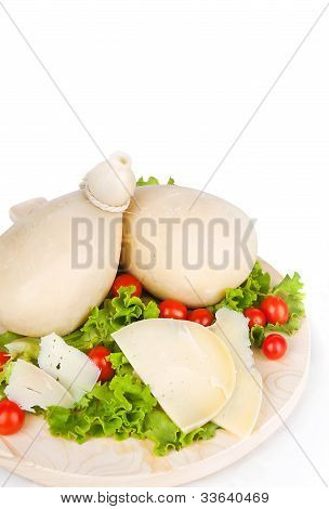 Caciocavallo With Tomatoes And Salad