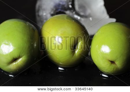 Still Life Of Olives On A Blue Background Study