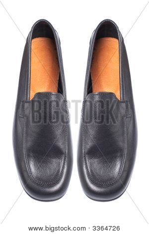 Man Black Shoes