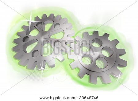 gears driven by green energy