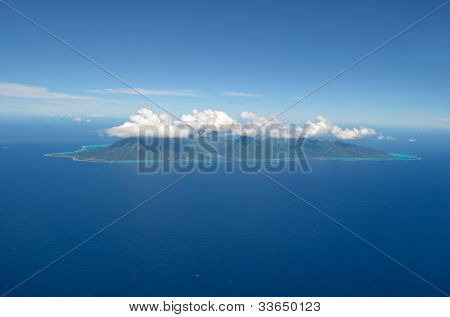 Aerial View Of The Tropical Island Of Moorea