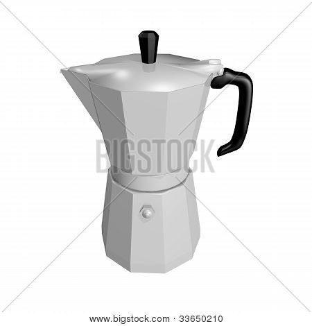 Coffee pot isolated