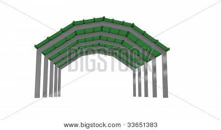 low view green carport