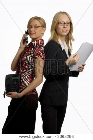 Two Woman In Office