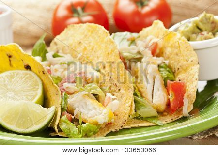Homemade Fresh Fish Tacos