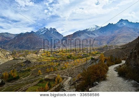 Fantastic View On The Way To Muktinath