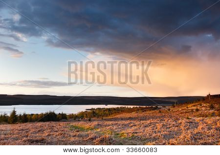 Kielder At Sunset
