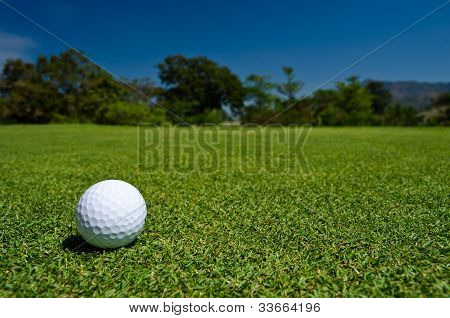 A Golf Ball In  A Beatiful View