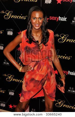 BEVERLY HILLS, CA - MAY 21: Laruen Maillian-Bias arives at the Gracie Awards Gala on May 21, 2012 at the Beverly Hilton Hotel in Beverly Hills, California.