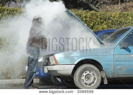 Überhitzte Auto