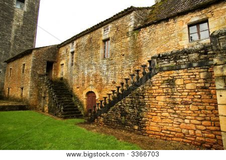 Old Stone Ladder With The Destroyed Handrail,  Small Village In France (3)