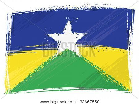 Grunge Rondonia flag